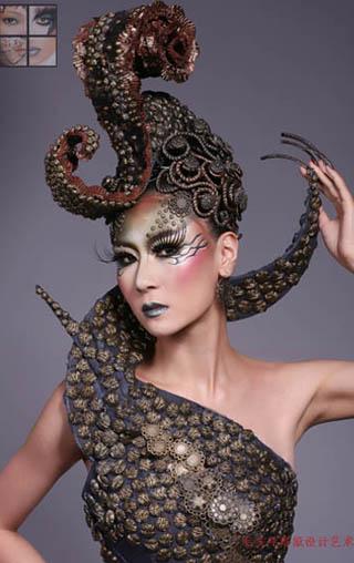 杭州毛戈平形象设计艺术学校化妆造型作品-杭州化妆