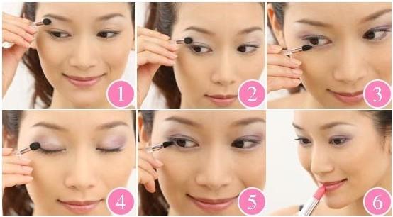 淡妆眼影的画法图解