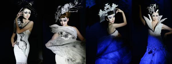 北京毛戈平学校毕业展彩妆造型演绎公益时尚图片