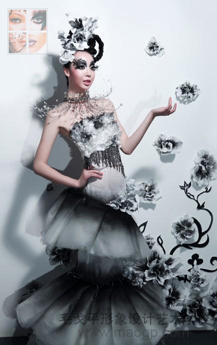 重慶毛戈平形象設計藝術學校化妝造型作品-重慶化妝