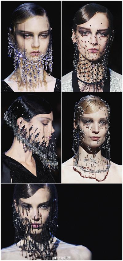 armani水晶头纱——毛戈平形象设计艺术学校彩妆资讯