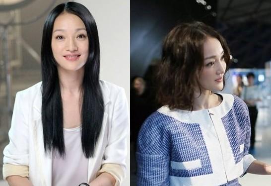 女人妆:剪短了乌黑长发,变成了中长的微卷发,发型的改变让周迅瞬