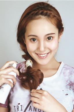 学生,ol都喜欢的浪漫刘海编发发型