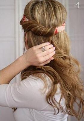 发带编头发的步骤及图片