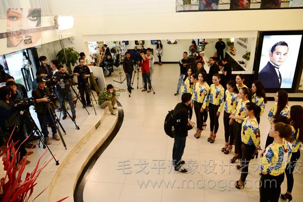 新丝路中国模特大赛13强齐聚北京毛戈平学校