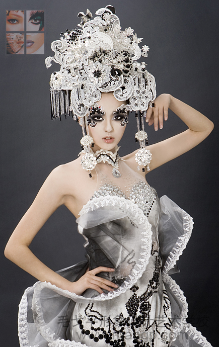 毛戈平彩妆造型图片图片