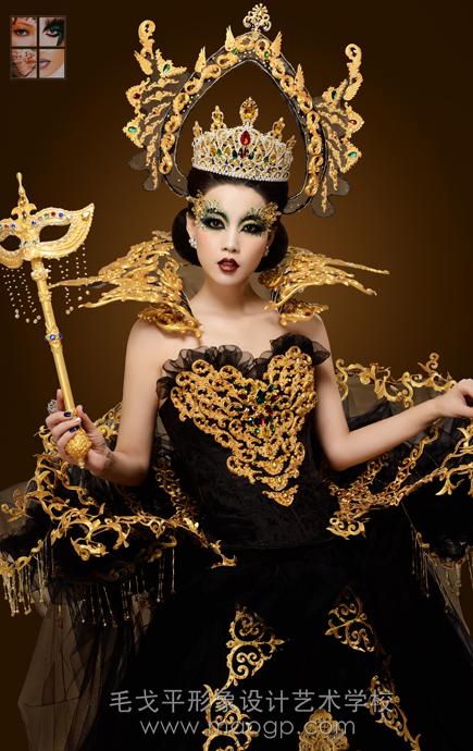 北京毛戈平形象設計藝術學校化妝造型作品-北京化妝