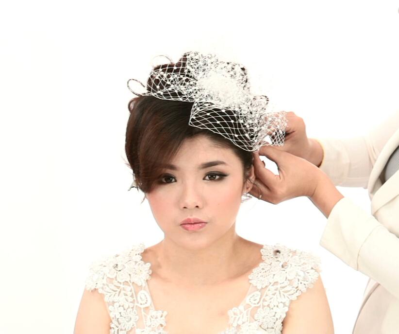 毛戈平化妆学校老师教你打造经典风格新娘发型