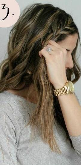 波西米亚风格的发型图片