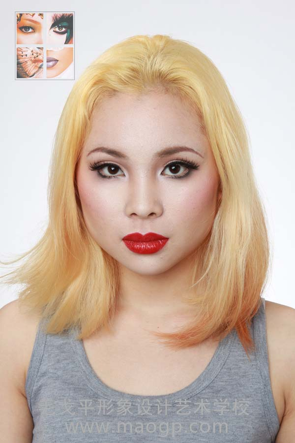 打造复古发型模特头发长度和颜色回归复古感