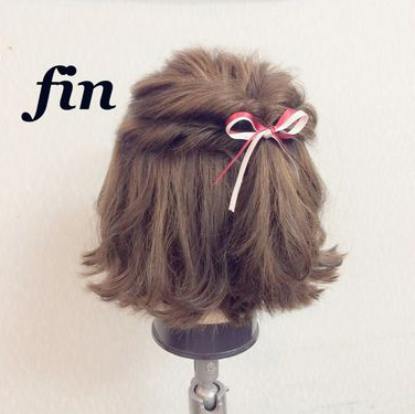 最适合中短发萌妹子的清爽半扎发
