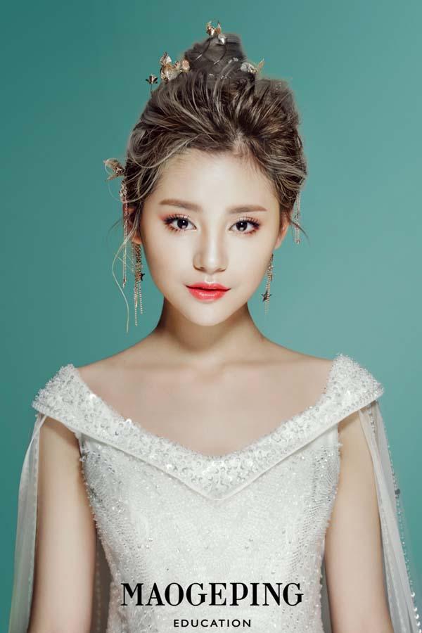 简约灵动韩式新娘造型,小清新婚礼就选这款吧!图片