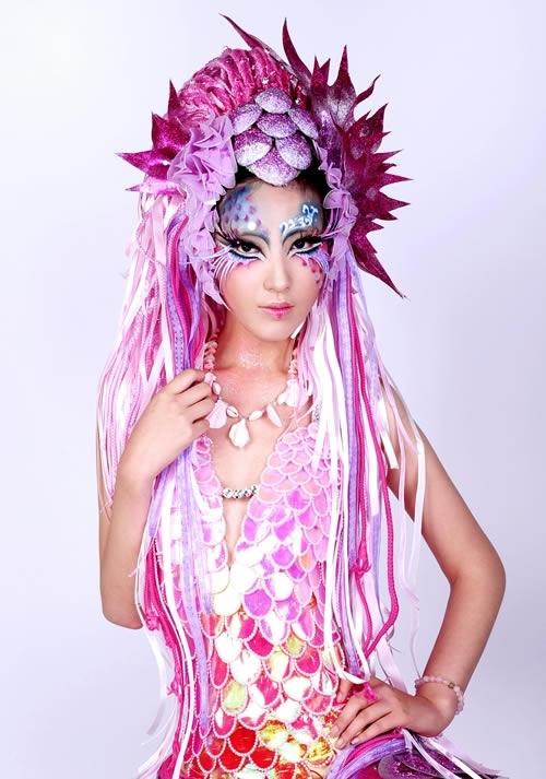 创意新娘妆面造型 创意新娘干净妆面 欧式新娘妆面造型