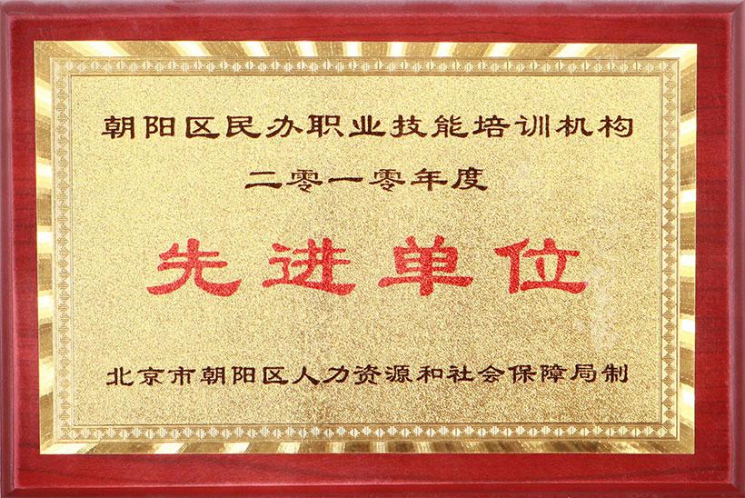 2010年度朝阳区民办职业技能培训机构先进单位