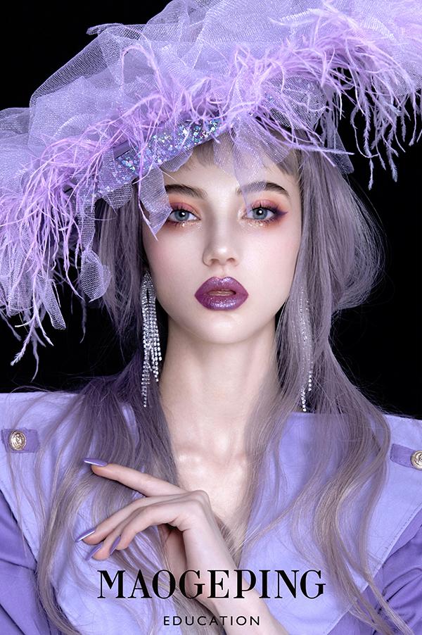 西式组2号-作品名称-《紫·生》-化妆造型-朱明子-李演-韩正娜-沈霭彤-李红.jpg